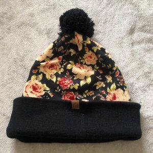 Floral beenie